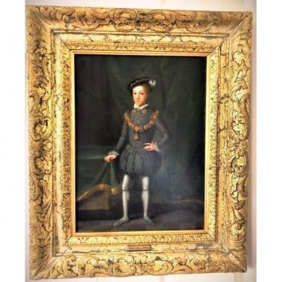 King Edward VI (1537-1553) Circa 1670-1700 Dutch Oil On Oak Panel 17th Century Historical Importance