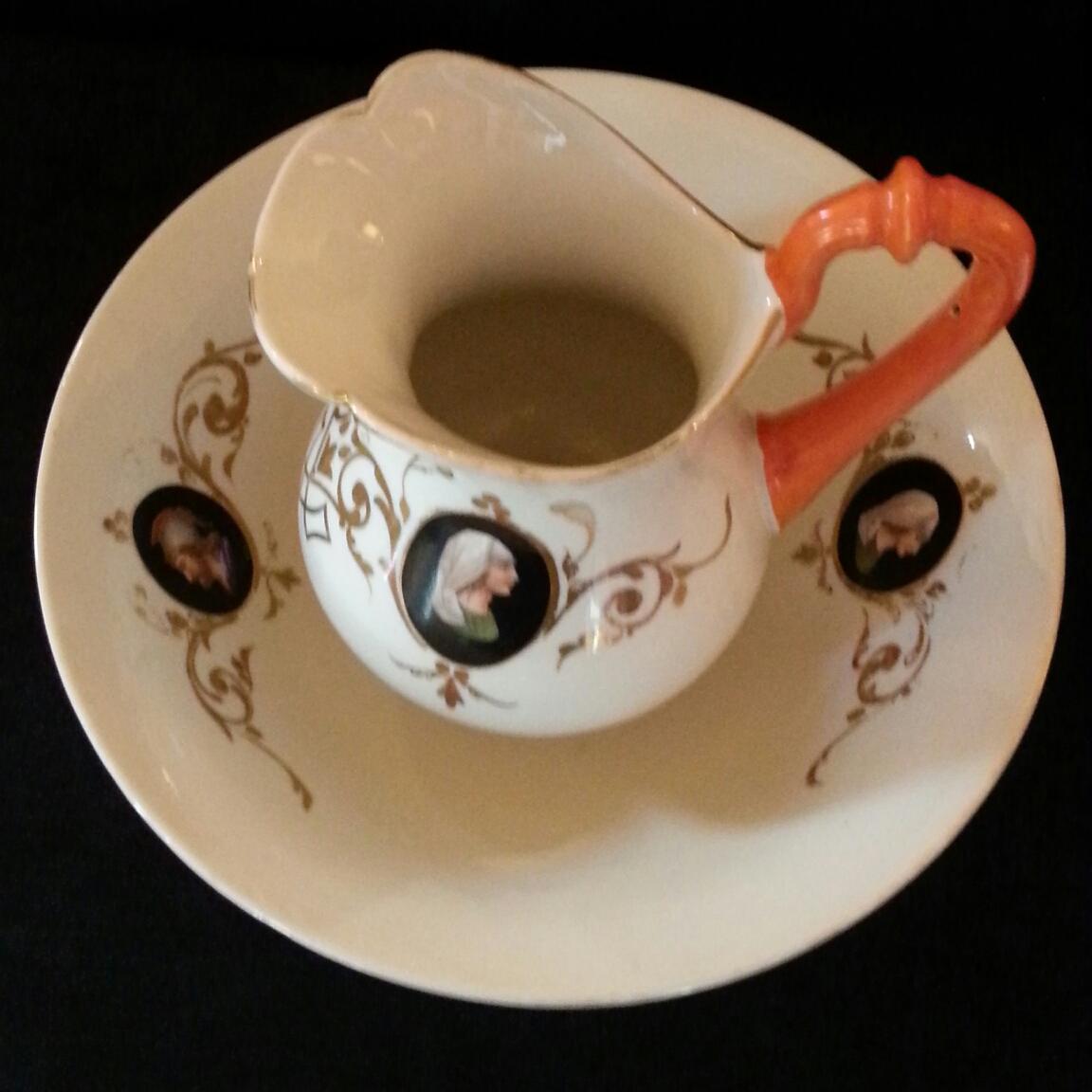 Brot et vasque en porcelaine de paris porcelain for Vasque ancienne en porcelaine