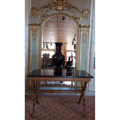 TABLE BASSE, PLATEAU DE MARBRE