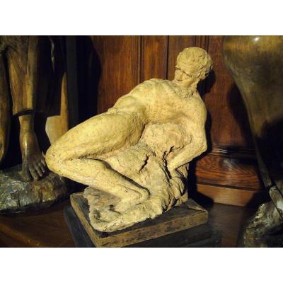 Terracotta 1930 Reclining Man