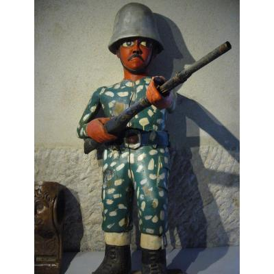 African Colonist Statue American Gi Soldier