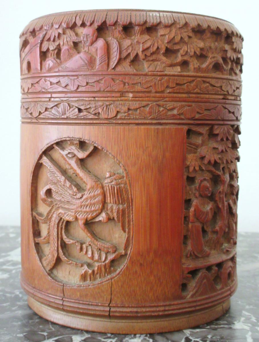 Carved Bamboo Box - China, Circa 1900