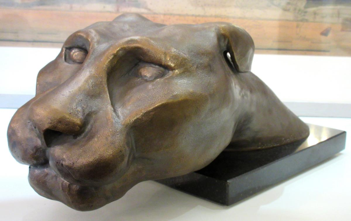 Caroline Chambon - Bronze d'Une Tête De Félin
