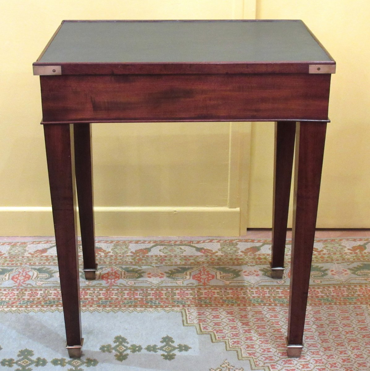 19th Century Mahogany And Leather Writing Table