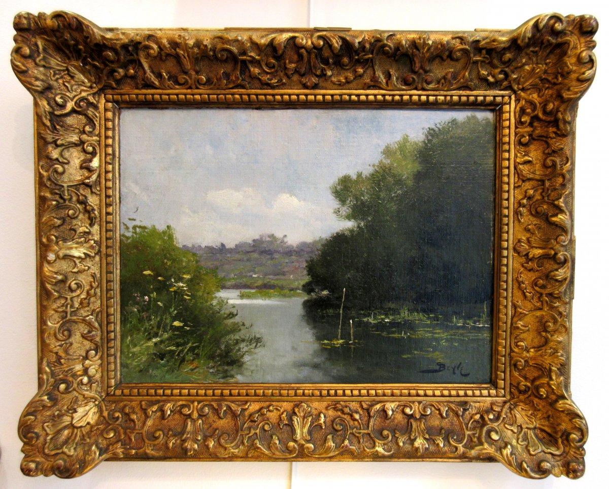 Pierre-marie Beyle (1838-1902) - Paysage Lacustre