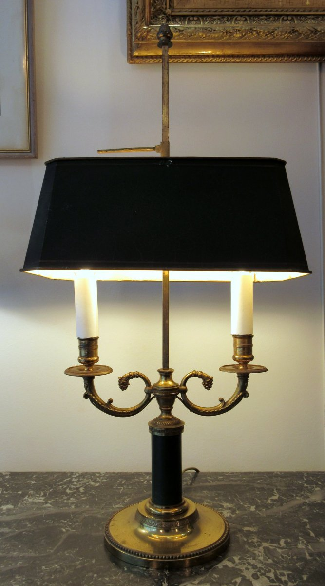 Empire Style Hot Water Bottle Lamp With Horns Of Plenty