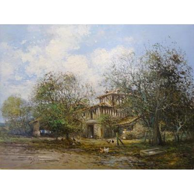 Paysage à la ferme, Jean-Bernard Trotzier