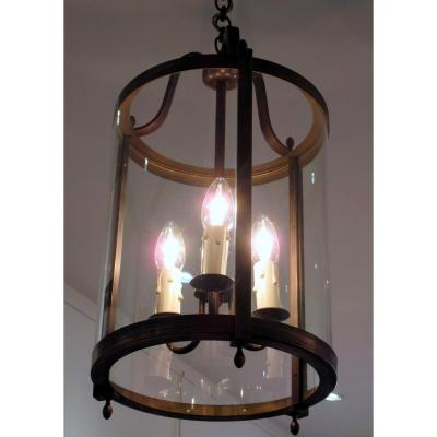Lanterne De Vestibule En Bronze Doré
