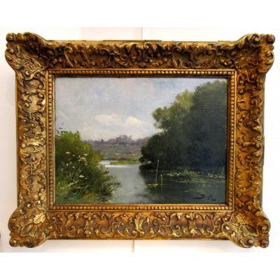 Pierre-marie Beyle (1838-1902) - Lake Landscape