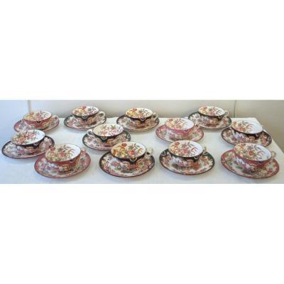 12 Sarreguemines Tea Cups Minton Model