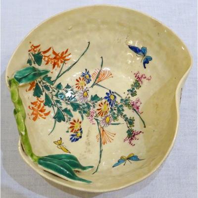 Coupe En Céramique De Banko Japon Fin XIXème