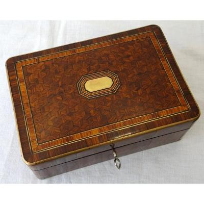 Napoleon III Marquetry Jewelry Box