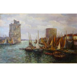 The Port Of La Rochelle - Emile Gallois (1882-1965)