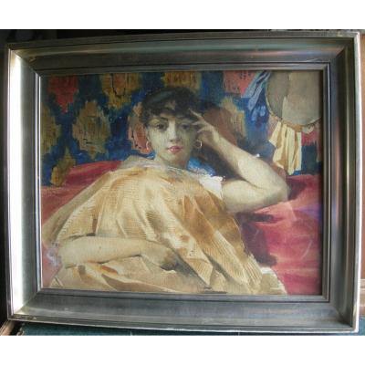Henry Detouche 1854-1913 - Signed Watercolor 27x35cm