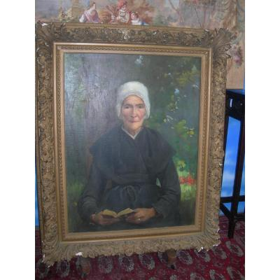 Portrait de femme âgée par Jeanne Favier