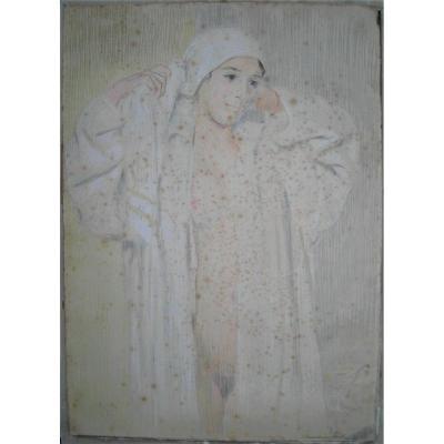Hermann-Paul (1861-1940)-Grand dessin couleur 85x61cm