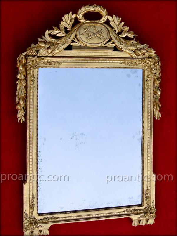 Miroir louis xvi 137 x 90 miroirs for Miroir louis 16