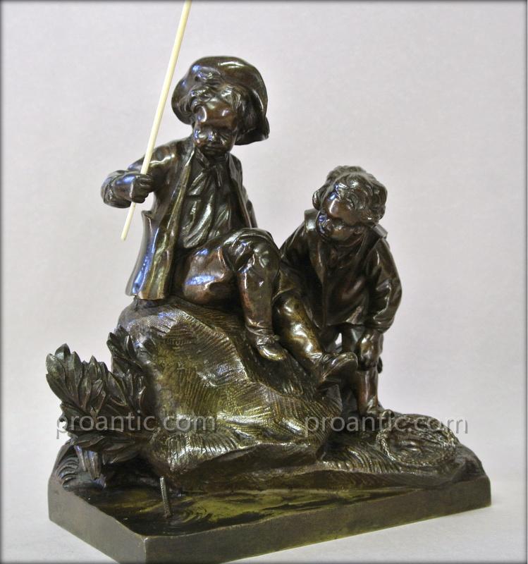 """Partie De Pêche"" Bronze De Gechter"