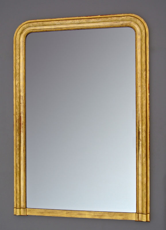 Golden Frame Mirror With Gold Leaf 143.5 X 98.3
