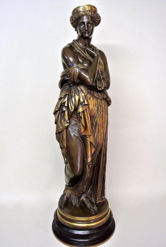"""""""Hélène"""" statue en bronze par Clésinger"""