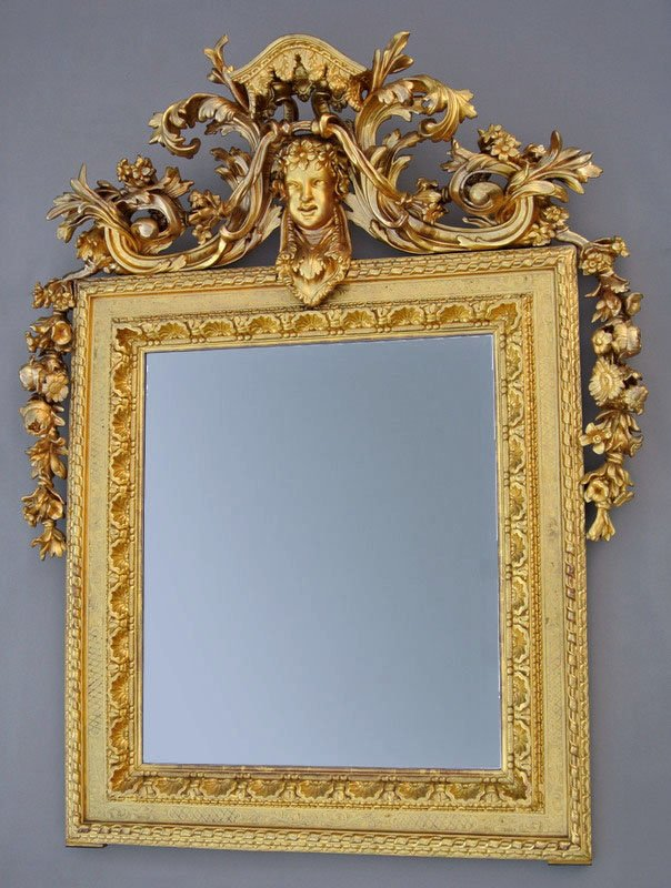 Mirror Fronton Nineteenth Time 158 X 125