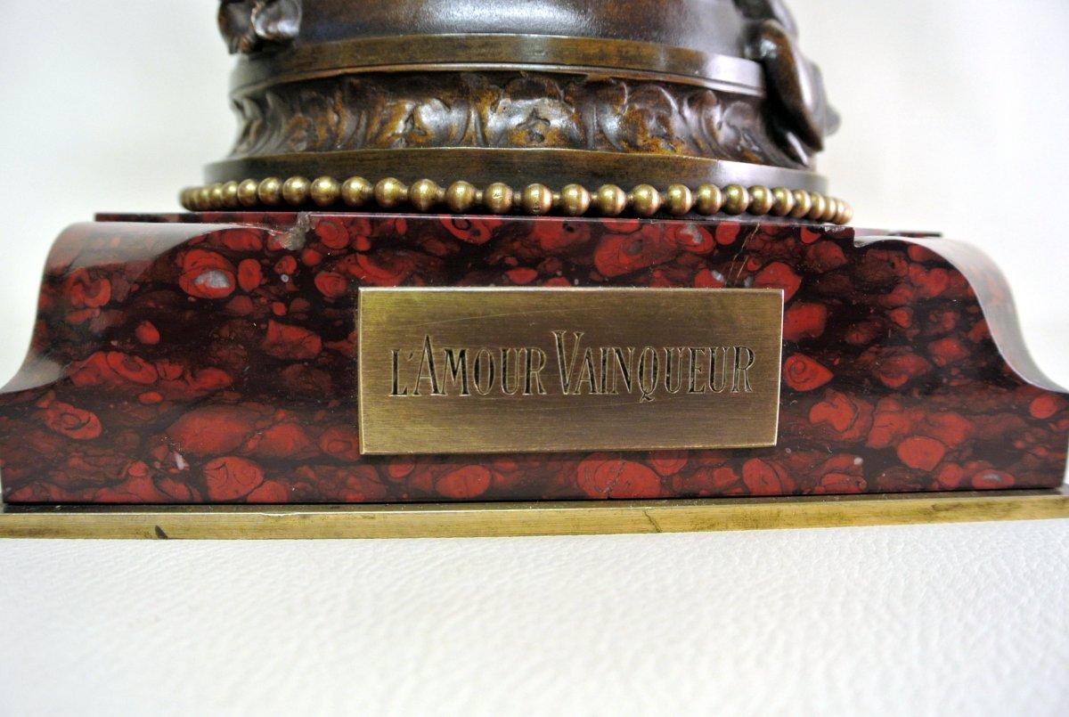 """""""L'Amour Vainqueur"""" groupe signé A. ITASSE et W. BOUGUEREAU-photo-4"""