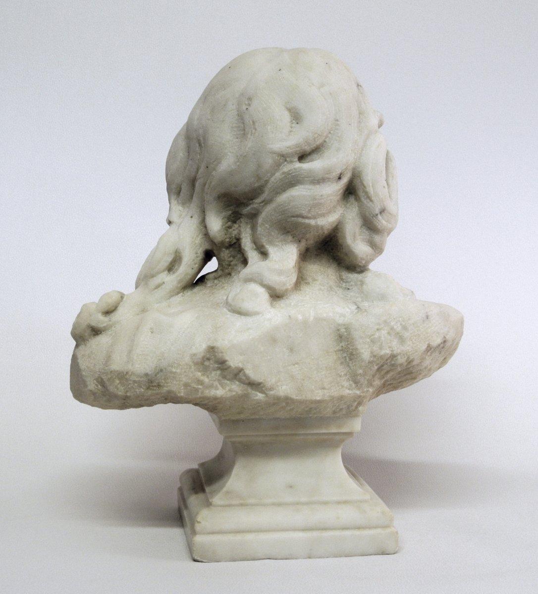 Buste du Christ, sculpture en marbre (Epoque XIXème)-photo-1