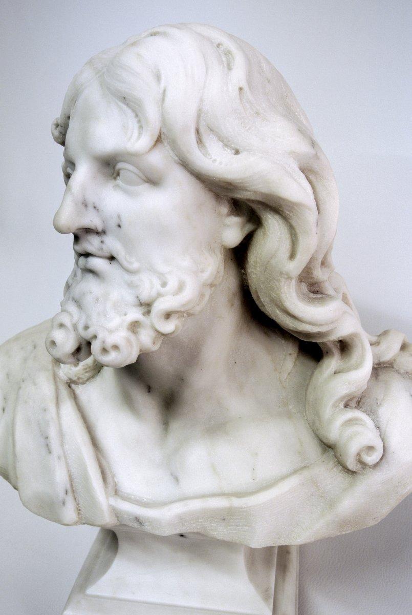 Buste du Christ, sculpture en marbre (Epoque XIXème)-photo-5