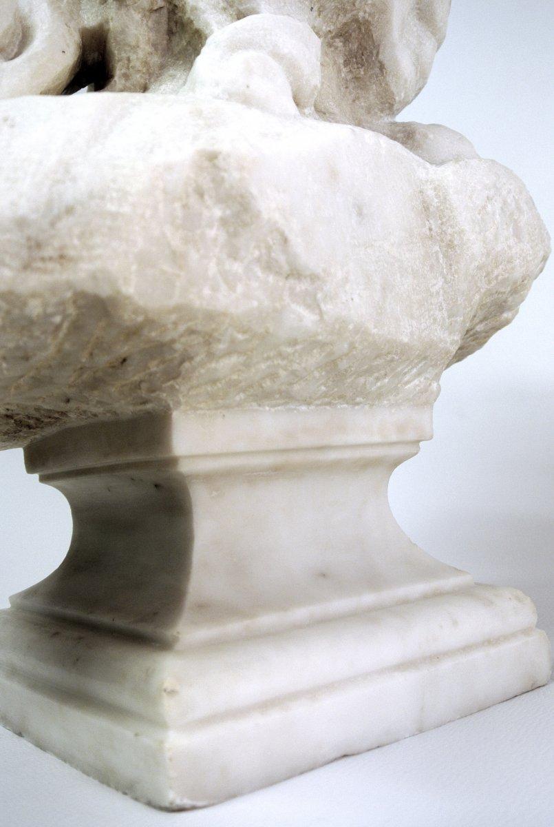 Buste du Christ, sculpture en marbre (Epoque XIXème)-photo-6