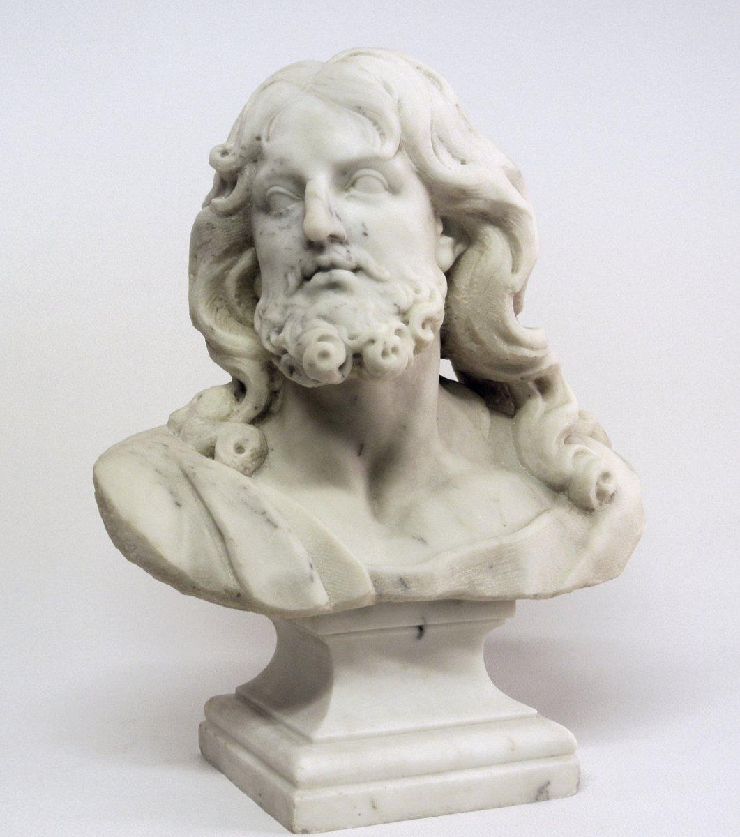 Buste du Christ, sculpture en marbre (Epoque XIXème)