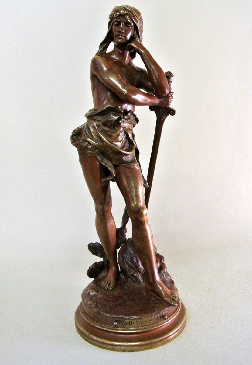 David Vainqueur Bronze Par Henri Plé