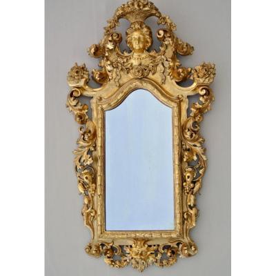 """Miroir """"Au visage"""" du début XIXème"""