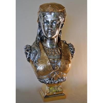 Buste En Bronze Signé Rimbez
