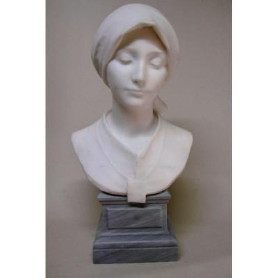 Marble Bust Signed A.leonard