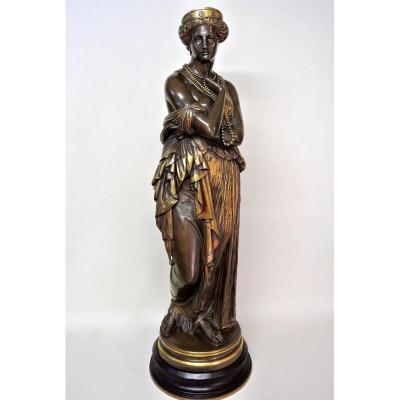 """""""helen"""" Bronze Statue By Clésinger"""