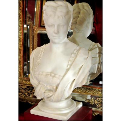 Marble Bust Signed H. Icard