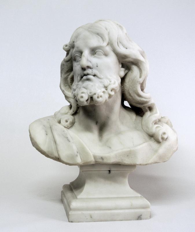 Buste du Christ, sculpture en marbre (Epoque XIXème)-photo-2