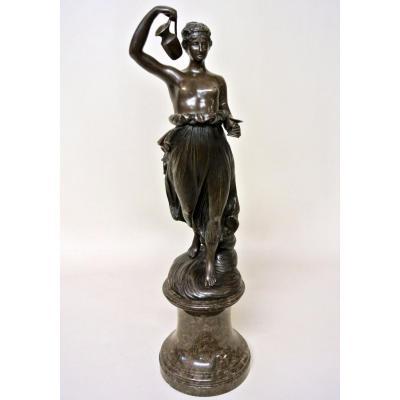 """""""Hebe"""" statuette en bronze d'après Canova"""
