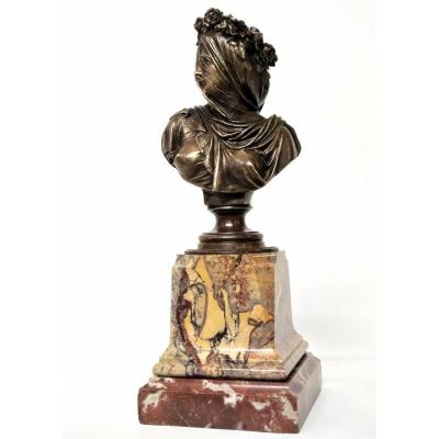 Bust Of Vestal By A. Carrier
