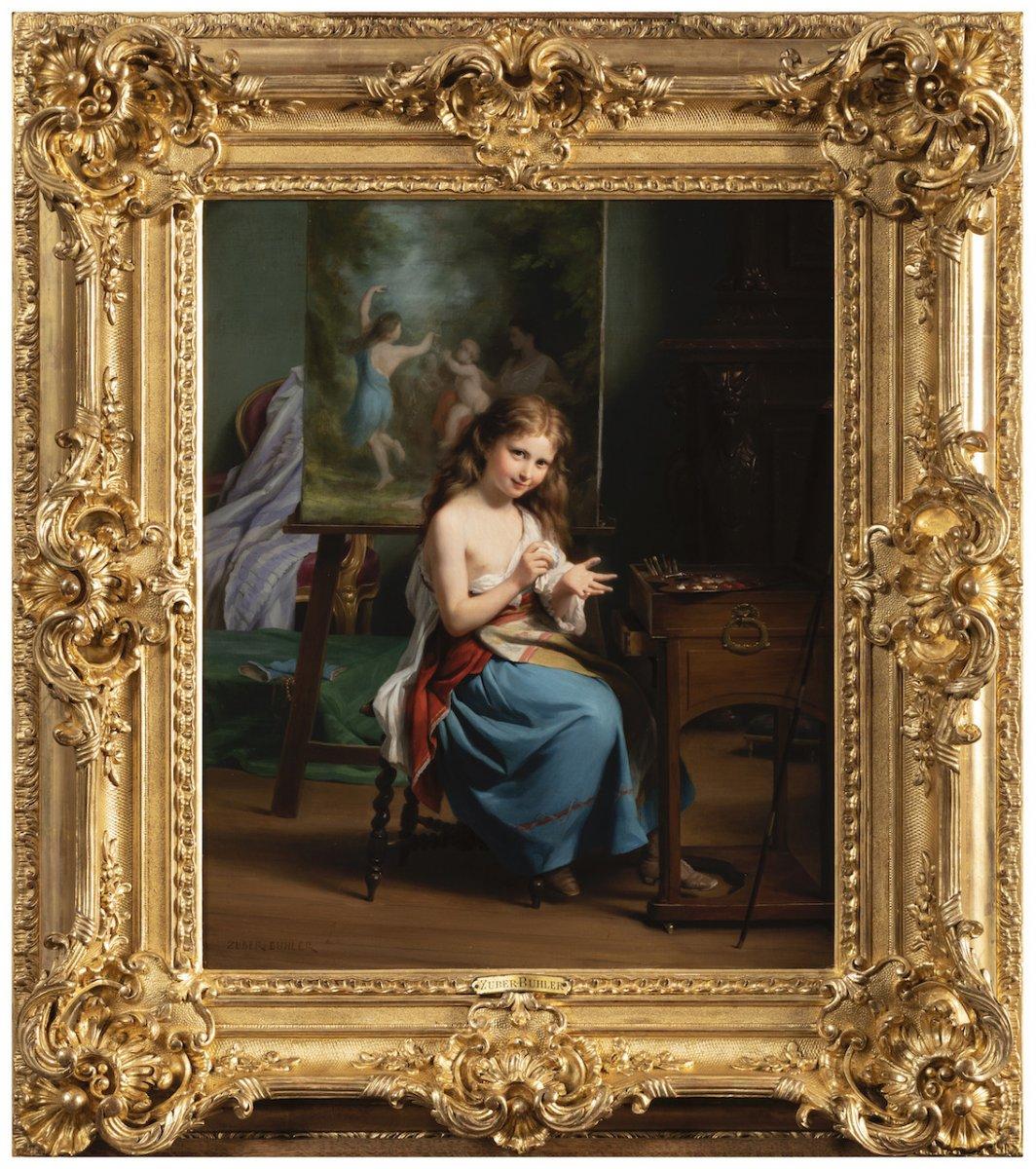 Portrait d'Une Jeune Fille Dans Son Atelier