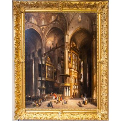 Interior Of The Cathedral Of Milan - Louis-desired Thienon ((1812- After 1881)