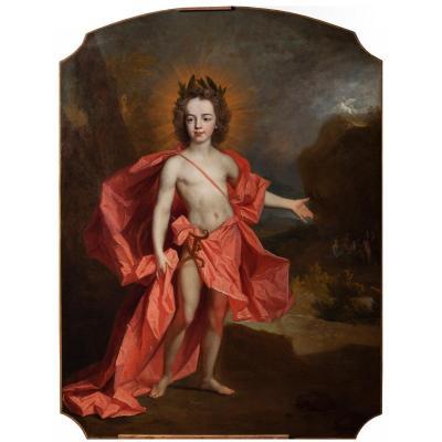 Portrait D'enfant En Apollon - Atelier De Largillière Ecole Française