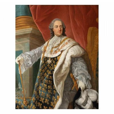 Portrait de Louis XV en tenue de Sacre