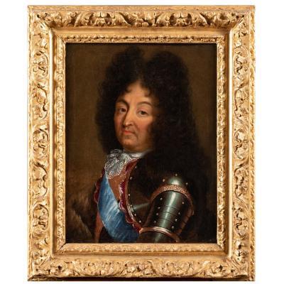 Portrait De Louis XIV - École Française Vers 1700