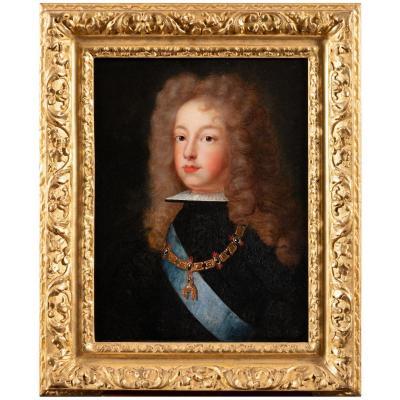 Portrait De Philippe V D'Espagne - École Française Vers 1700