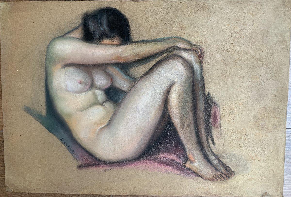 David Olere (1902 Varsovie- Noisy-le-Grand1985) Nu Pastel