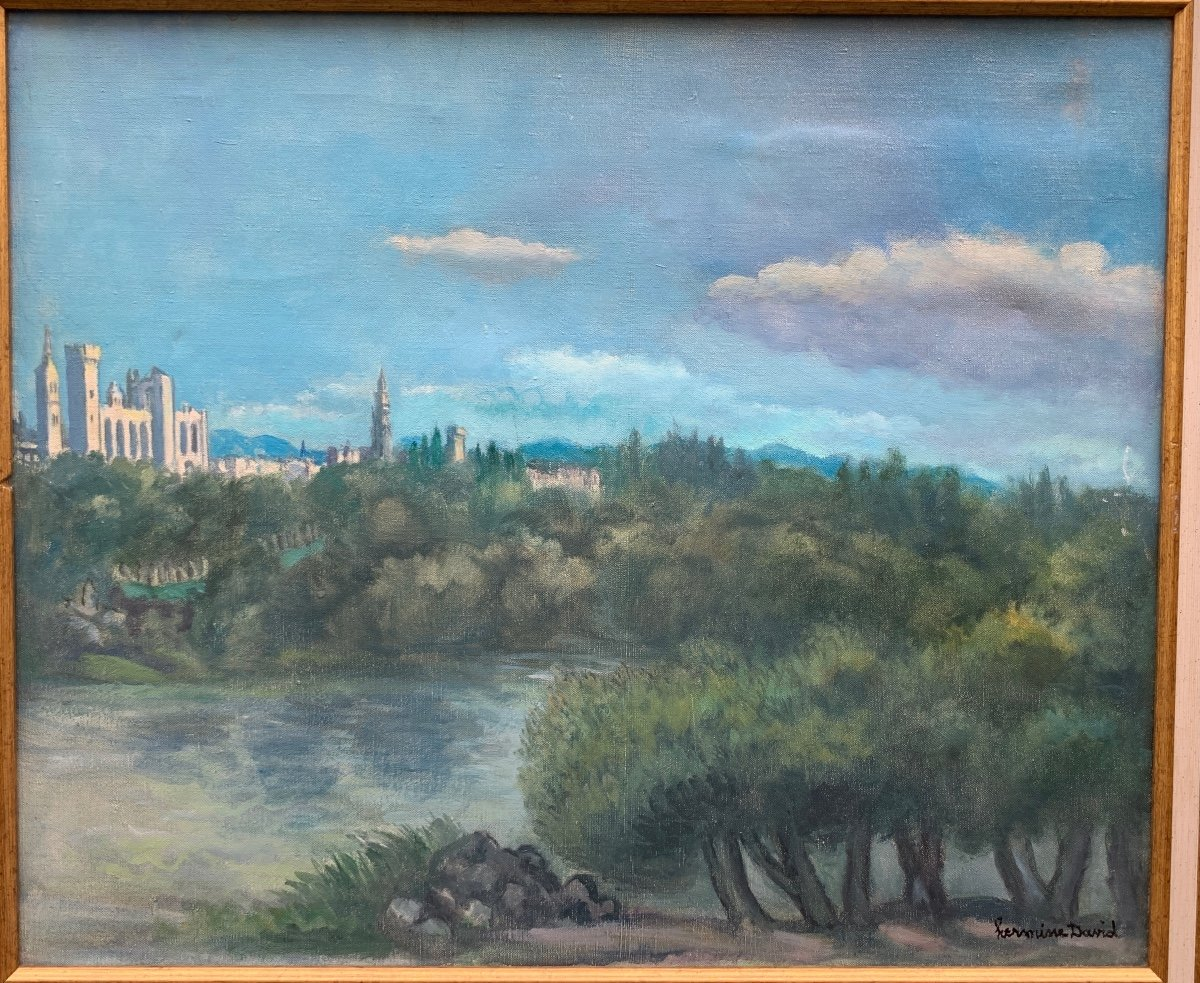 Hermine David (1886-1970) Avignon, The Palace Of The Popes And Notre-dame Des Doms