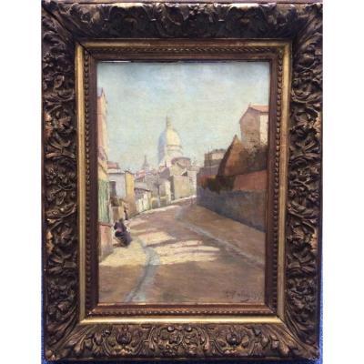 Léon Ballin, Vue d'Une Rue à Montmartre
