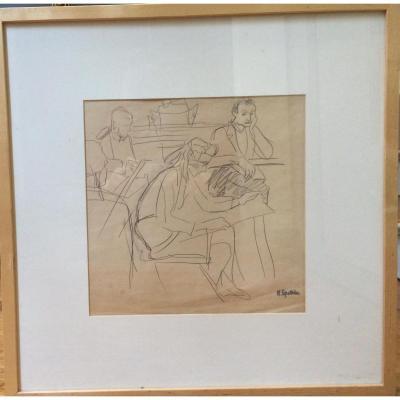 Henri Epstein, Polonais, Etude, Crayon Sur Papier