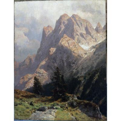 Egon Oscar Von  Kamecke Kameke Allemand German Germany Paysage